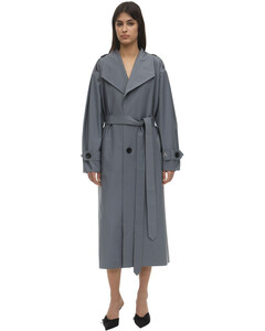 Double Sided Wool Blend Trench Coat