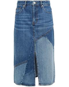Woman Justine Paneled Denim Skirt