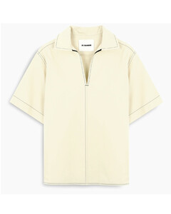 Beige shirt with contrasting stitching