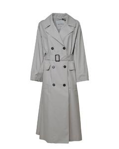 Melange light-blue cotton shirt