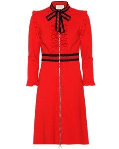 縐紗針織連衣裙