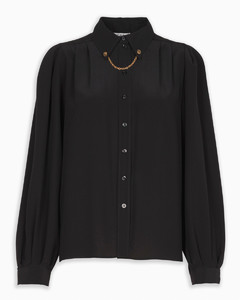 Silk shirt with chain detail