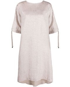 短袖弹性羊毛连衣裙