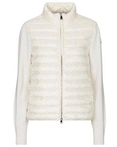 绗缝羽绒和羊毛开衫