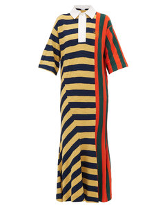 Striped cotton rugby shirtdress