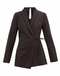 Vanda wrap cotton-twill jacket
