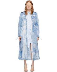 蓝色扎染雨衣