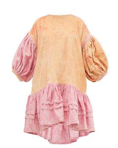 Verity organic-cotton corduroy dress