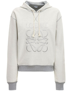 Embroidered Logo Cotton Jersey Hoodie