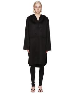 黑色套头大衣