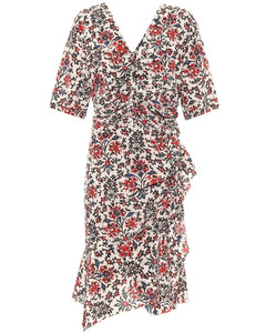 Arodie floral stretch-silk minidress