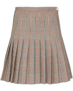迷你格纹迷你半身裙