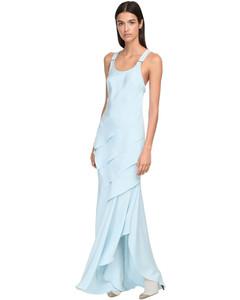 Draped Silk Long Dress