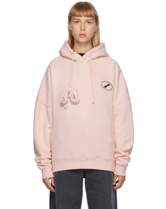 粉色Iridescent Logo连帽衫
