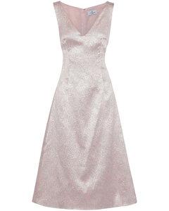 Woman Corded Lace Midi Dress