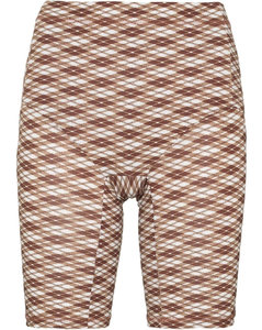 Taupe ruffle-trimmed jumper
