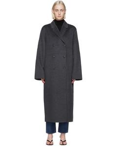 灰色Double羊毛大衣