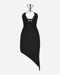 羊毛百褶連衣裙