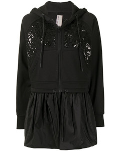 Tweed asymmetric mini skirt