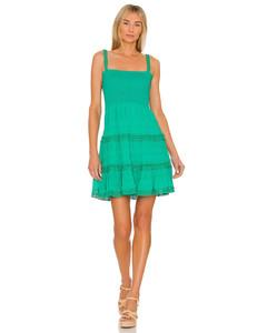 Charcoal layered cupro midi dress
