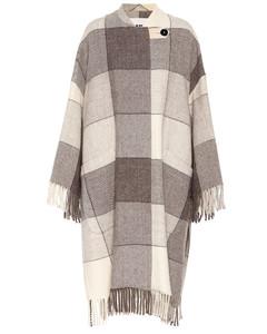 格纹羊毛大衣