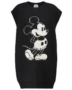 x Disney®Mickey Mouse intarsia wool minidress