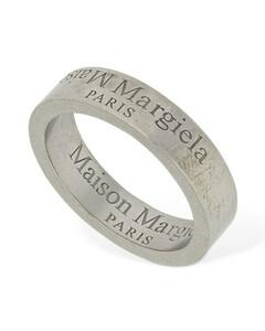 Upside Down Logo Band Ring