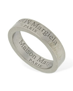 Upside Down Logo Band Ring