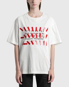 Tape Print Oversized T-shirt