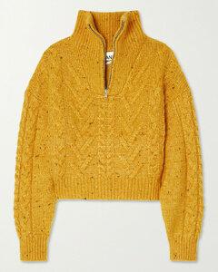 Mélange Cable-knit Sweater