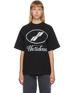 黑色反光徽标T恤