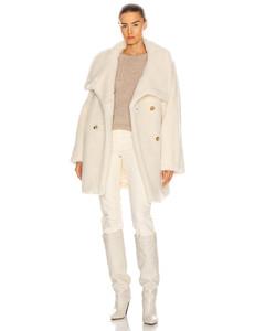 Teddy Coat in White