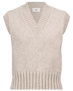 羊毛混纺针织背心