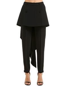 Stretch Cady Pants W/ Skirt Panels