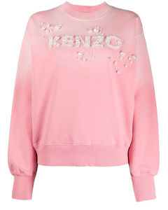 Sweatshirt Pearls Logo Pink