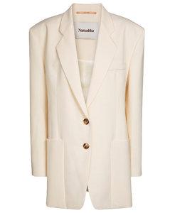 Evan卡迪面料西装式外套