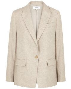 Stone flannel blazer
