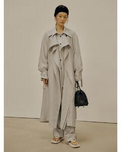 Linen Trench Coat (Beige)