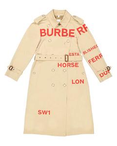 Horseferry Print Cotton Gabardine Trench Coat