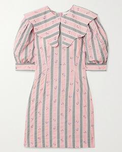 Printed Organic Cotton-seersucker Mini Dress