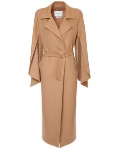 Pure Camel Doubled Coat W/ Belt