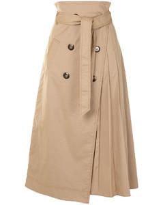 Malia trench wrap skirt
