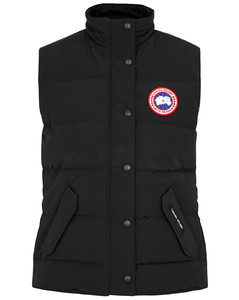 Freestyle black quilted shell gilet