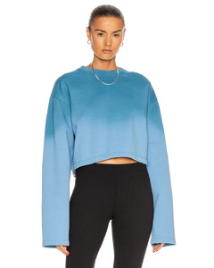 Ombre Cropped Sweater in Blue