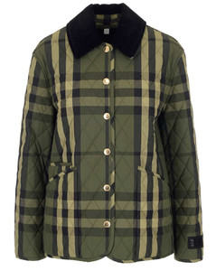 Checked Diamond Quilted Jacket
