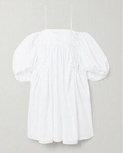 Bethanny Cold-shoulder Organza-jacquard Dress