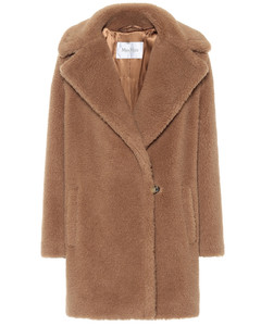 Orchis camel hair and silk teddy coat