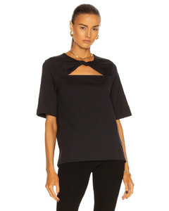 Sequinned padded-shoulder embellished top