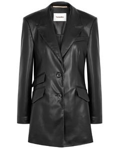 Cancun black faux leather blazer