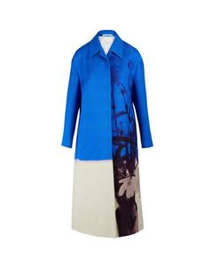 Textured maxi coat